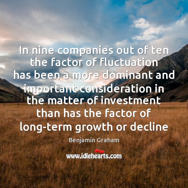 Image, In nine companies out of ten the factor of fluctuation has been