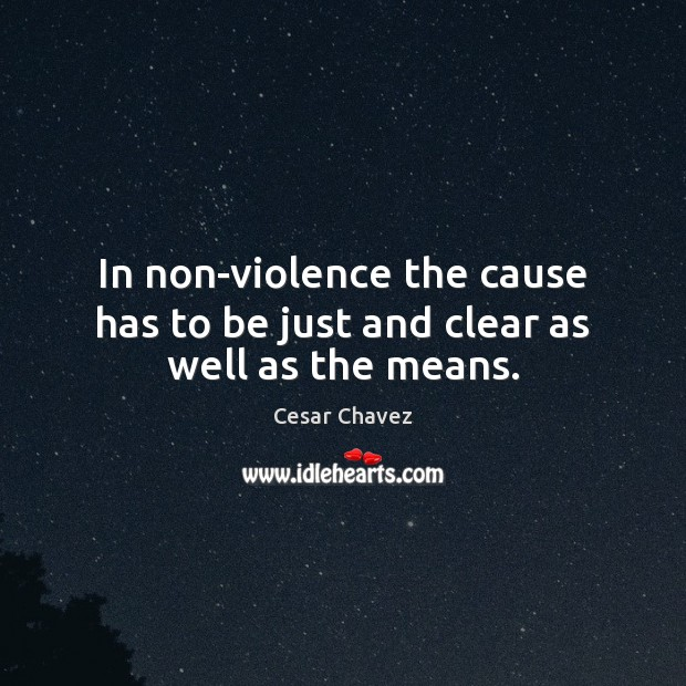 Image, In non-violence the cause has to be just and clear as well as the means.
