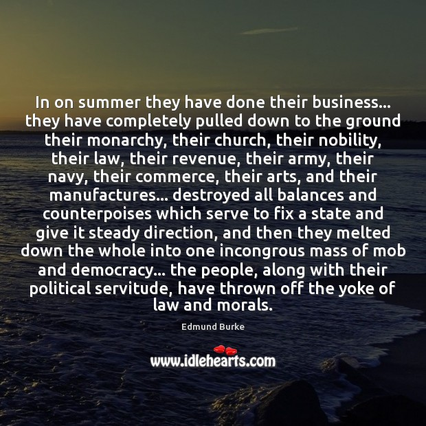 Image, In on summer they have done their business… they have completely pulled