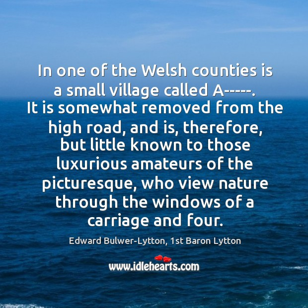 Image, In one of the Welsh counties is a small village called A—–.