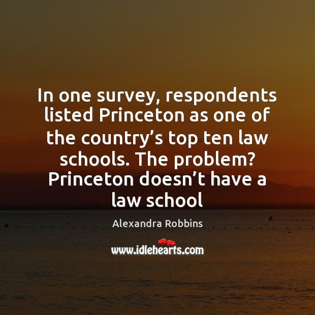 Image, In one survey, respondents listed Princeton as one of the country's