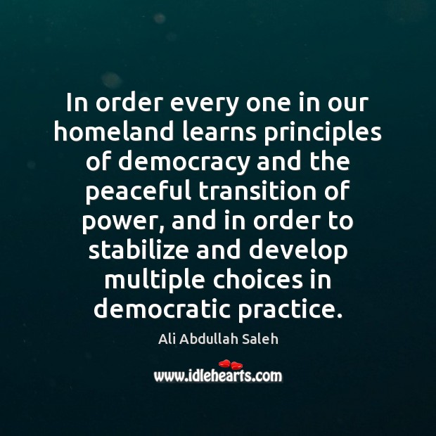 Image, In order every one in our homeland learns principles of democracy and