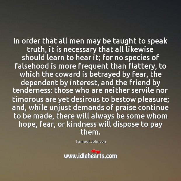 Image, In order that all men may be taught to speak truth, it