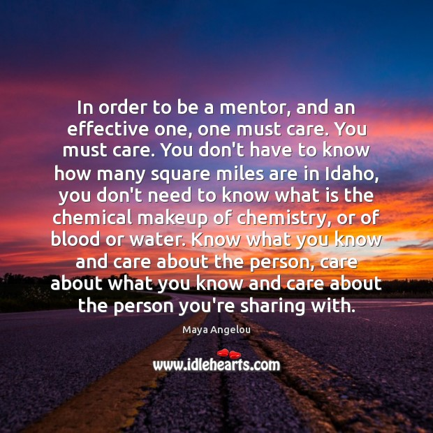 Image, In order to be a mentor, and an effective one, one must