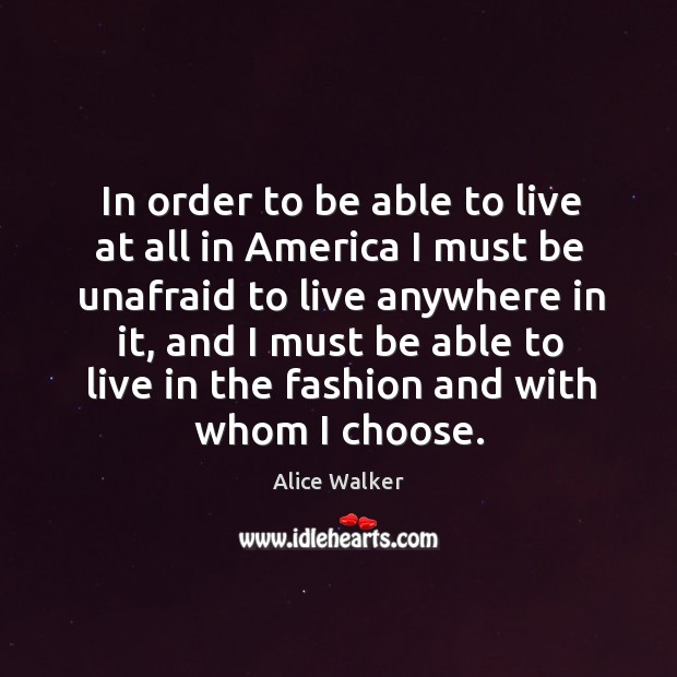 In order to be able to live at all in America I Image