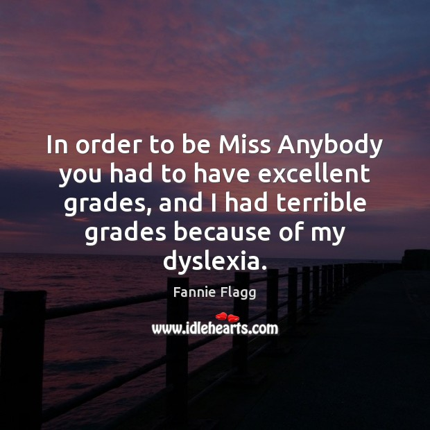In order to be Miss Anybody you had to have excellent grades, Image