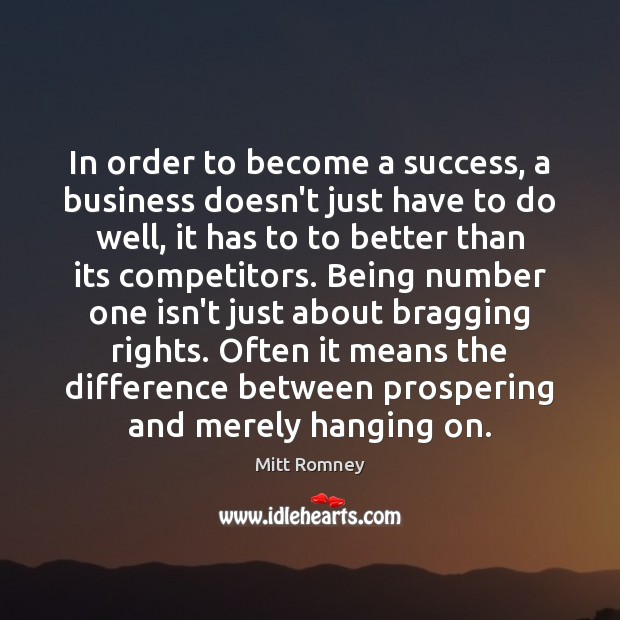 Image, In order to become a success, a business doesn't just have to