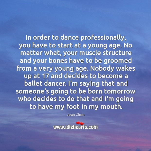 In order to dance professionally, you have to start at a young Image