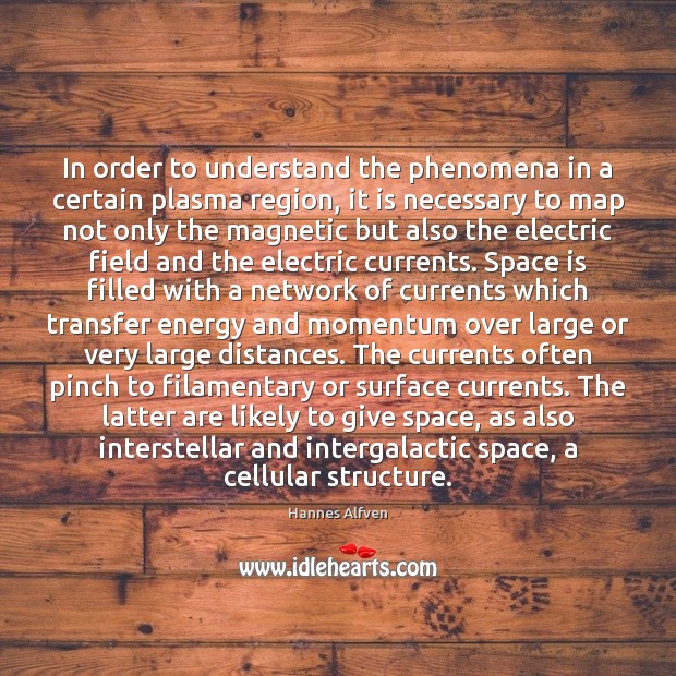 In order to understand the phenomena in a certain plasma region, it Space Quotes Image