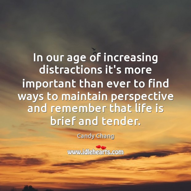 Image, In our age of increasing distractions it's more important than ever to