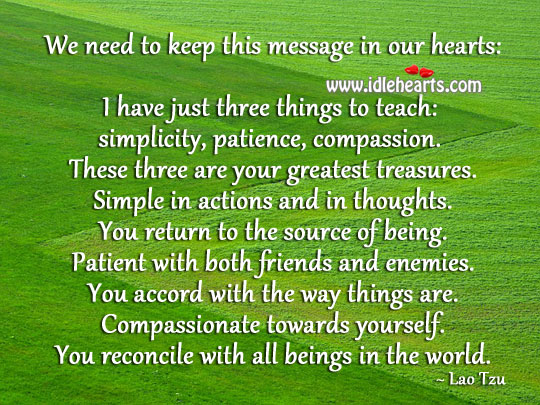 Greatest treasures of life Patient Quotes Image