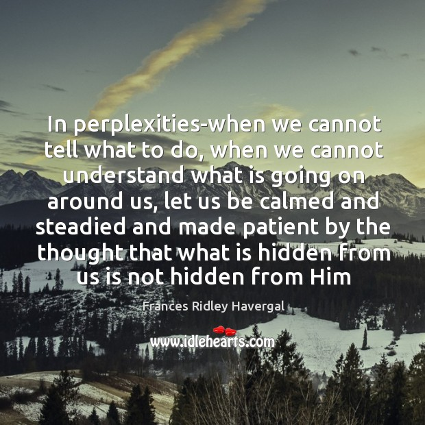 In perplexities-when we cannot tell what to do, when we cannot understand Image