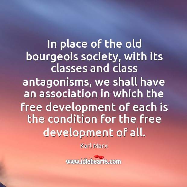 Image, In place of the old bourgeois society, with its classes and class