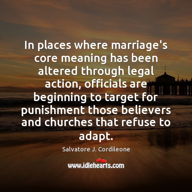Image, In places where marriage's core meaning has been altered through legal action,