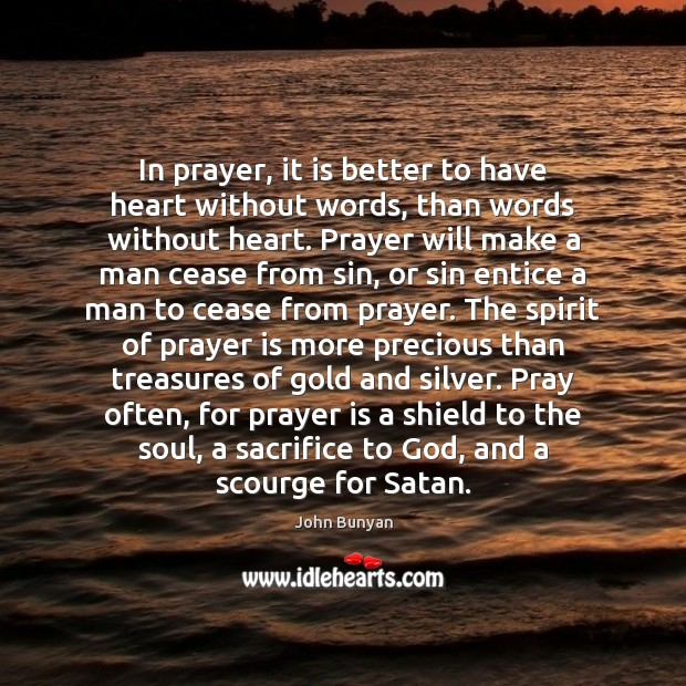 Image, In prayer, it is better to have heart without words, than words