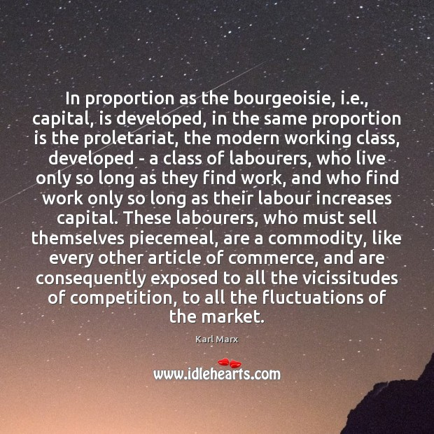 Image, In proportion as the bourgeoisie, i.e., capital, is developed, in the