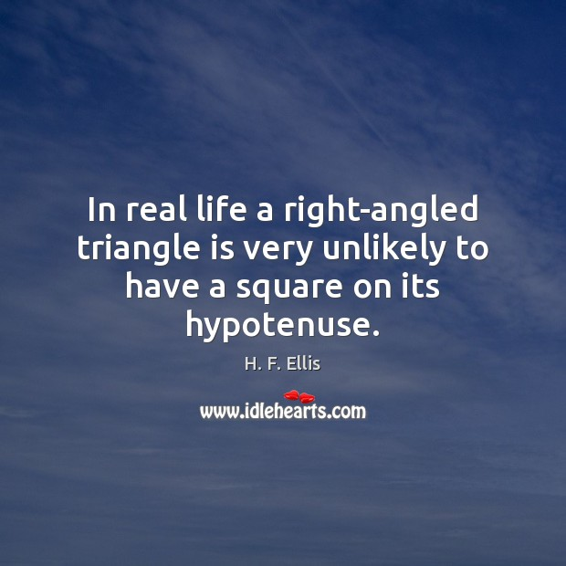In real life a right-angled triangle is very unlikely to have a square on its hypotenuse. Image