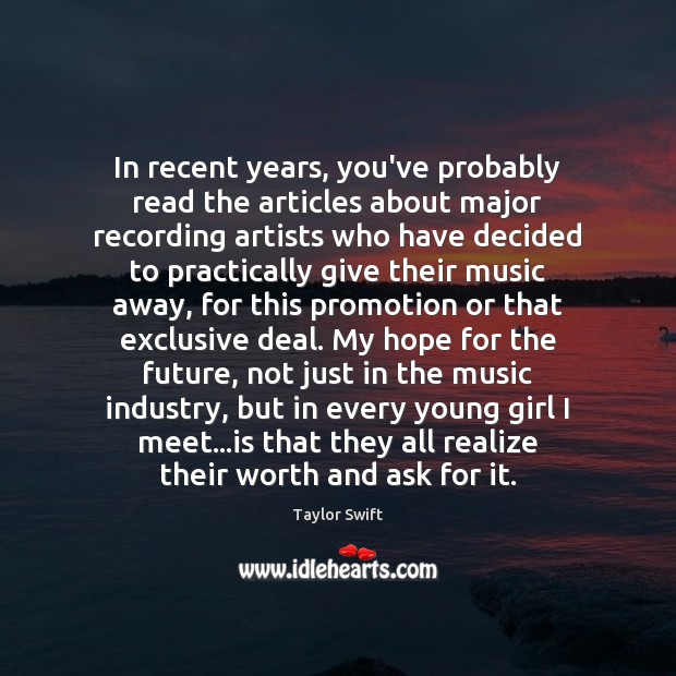 In recent years, you've probably read the articles about major recording artists Image