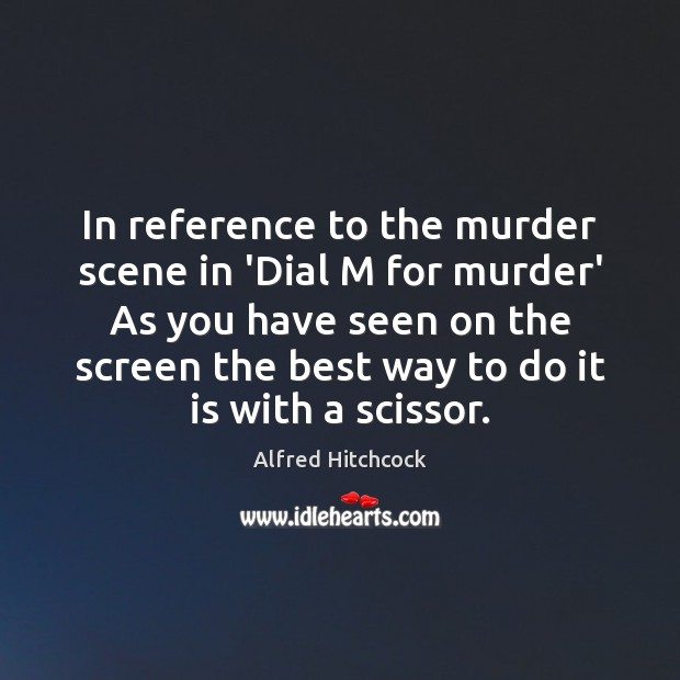 Image about In reference to the murder scene in 'Dial M for murder' As