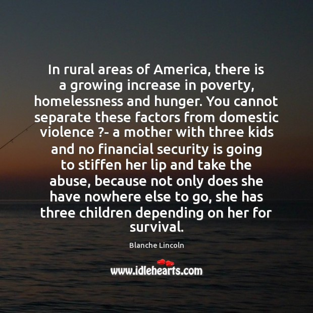 Image, In rural areas of America, there is a growing increase in poverty,
