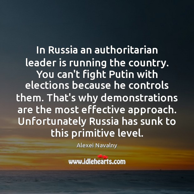 Image, In Russia an authoritarian leader is running the country. You can't fight