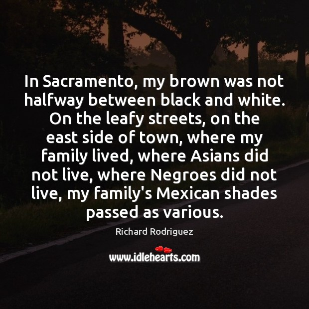 Image, In Sacramento, my brown was not halfway between black and white. On