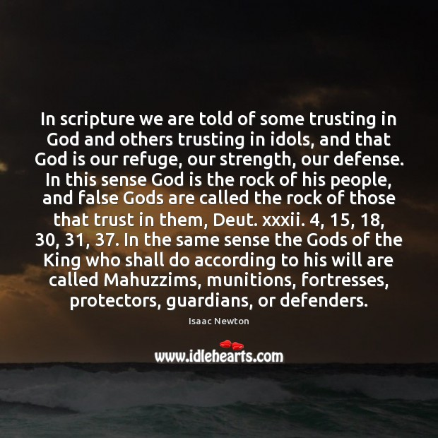 In scripture we are told of some trusting in God and others Image