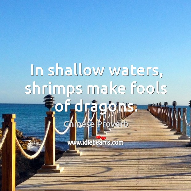 Image, In shallow waters, shrimps make fools of dragons.