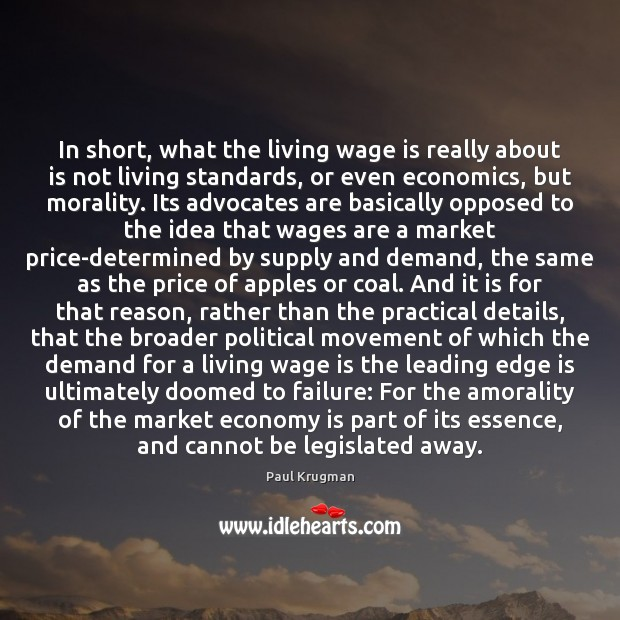Image, In short, what the living wage is really about is not living