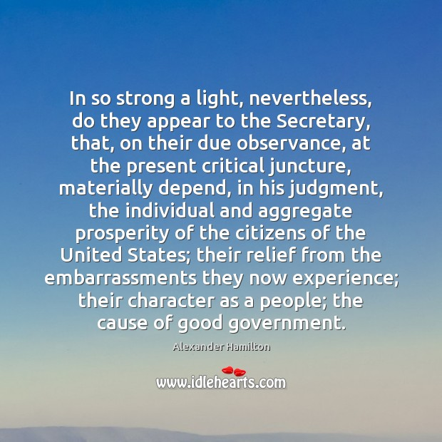 Image, In so strong a light, nevertheless, do they appear to the Secretary,