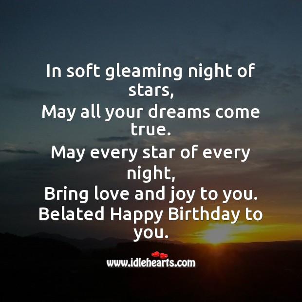 In soft gleaming night of stars Image