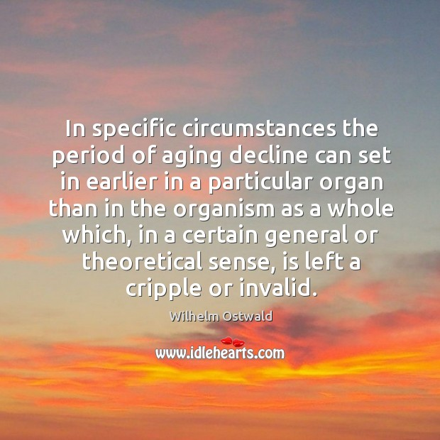 In specific circumstances the period of aging decline can set in earlier in a particular Image