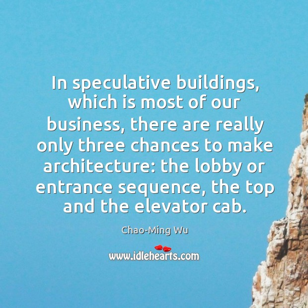 In speculative buildings, which is most of our business Image