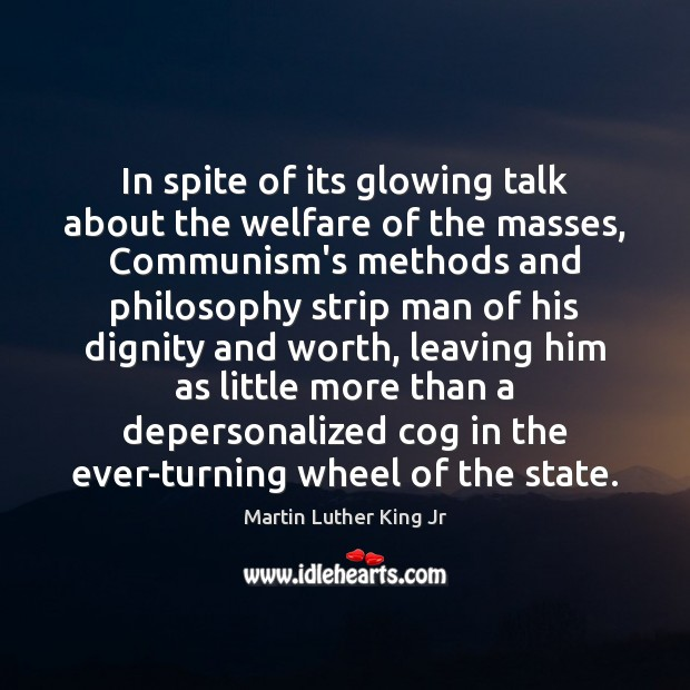 Image, In spite of its glowing talk about the welfare of the masses,