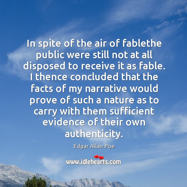 In spite of the air of fablethe public were still not at Image