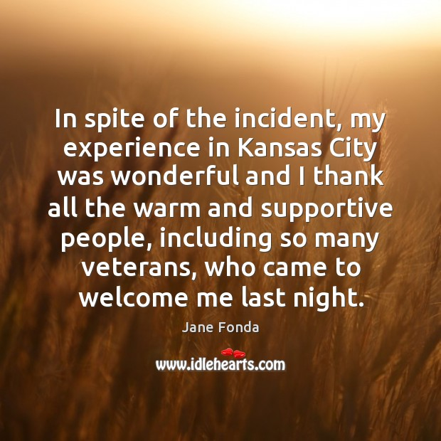In spite of the incident, my experience in Kansas City was wonderful Image