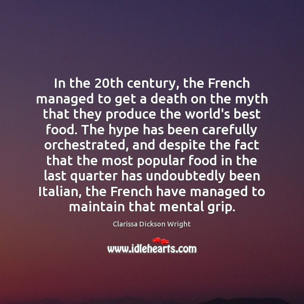 Image, In the 20th century, the French managed to get a death on