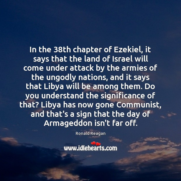 In the 38th chapter of Ezekiel, it says that the land of Image