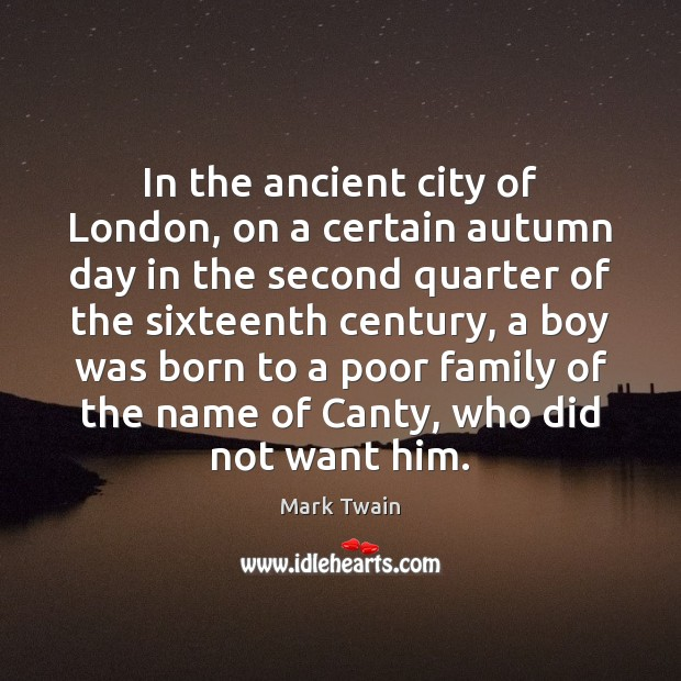Image, In the ancient city of London, on a certain autumn day in