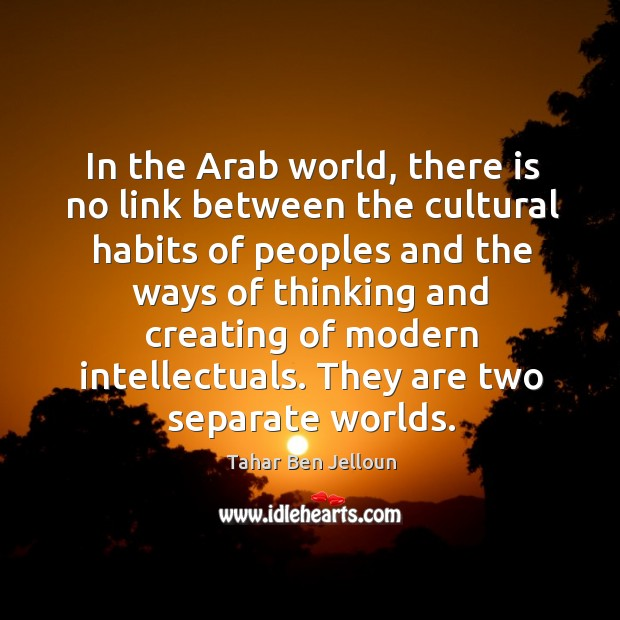Image, In the Arab world, there is no link between the cultural habits