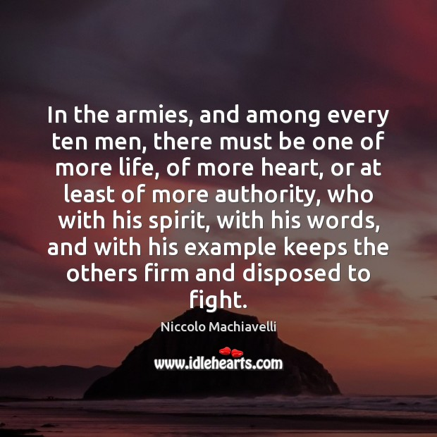 Image, In the armies, and among every ten men, there must be one