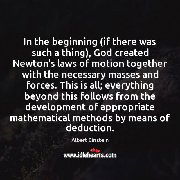 Image, In the beginning (if there was such a thing), God created Newton's