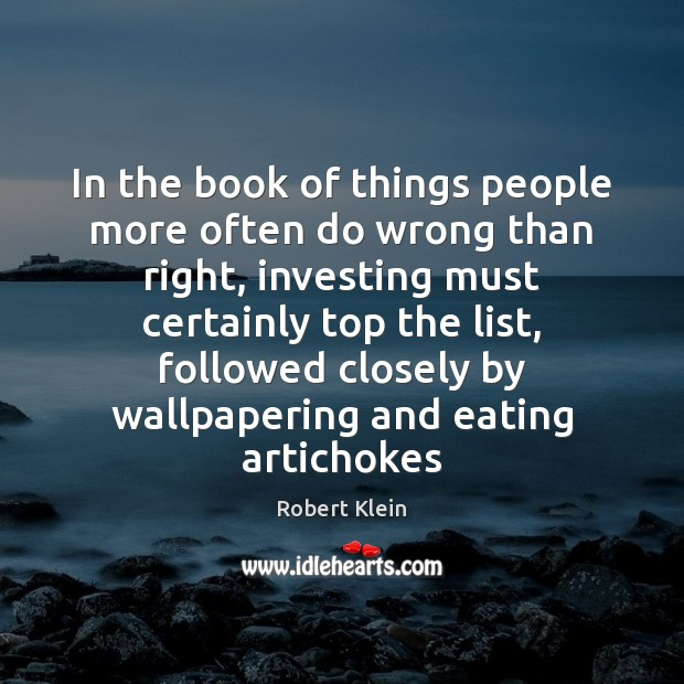Image, In the book of things people more often do wrong than right,