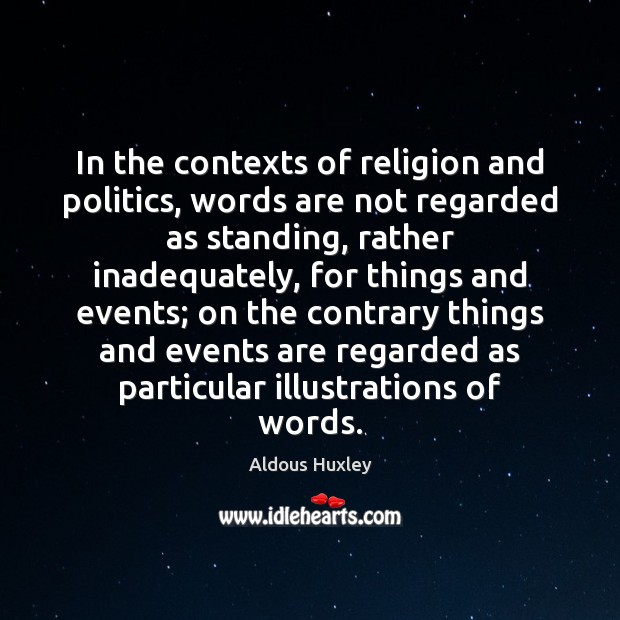 Image, In the contexts of religion and politics, words are not regarded as