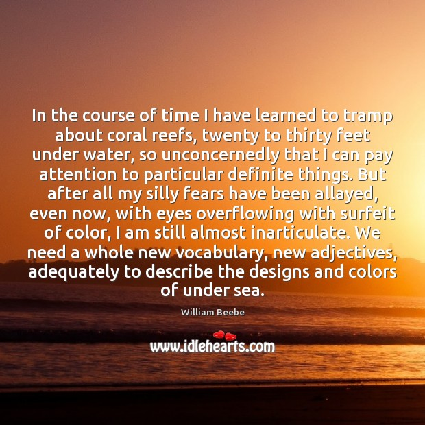In the course of time I have learned to tramp about coral Image