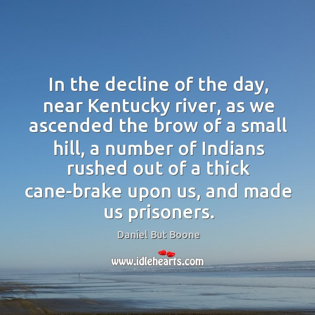 In the decline of the day, near kentucky river, as we ascended the brow of a small hill Image