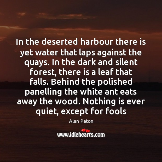 Image, In the deserted harbour there is yet water that laps against the