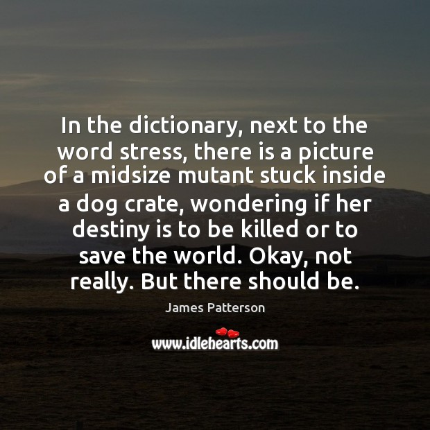 In the dictionary, next to the word stress, there is a picture Image
