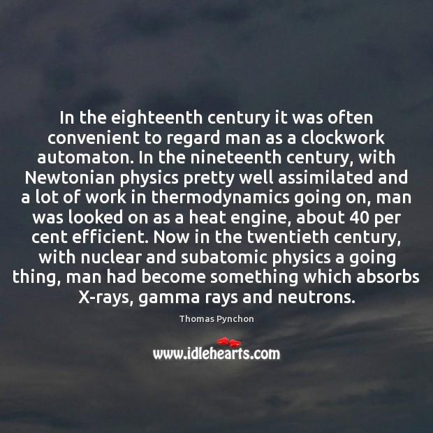 Image, In the eighteenth century it was often convenient to regard man as