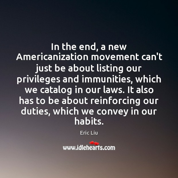 Image, In the end, a new Americanization movement can't just be about listing